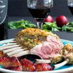 Rack of Lamb with Mint and Basil Pesto Crust