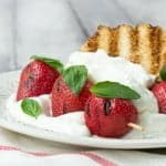 Grilled Strawberry Shortcake Recipe with Lemon and Basil Whipped Cream