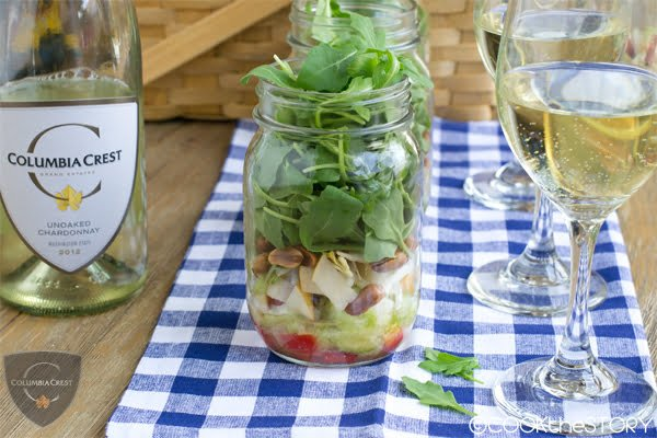 Salad in a Jar with Brown-Butter-Roasted Peanuts and Asian Pear: A fun make-ahead appetizer