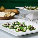 Zucchini, Tapenade and Feta Bites