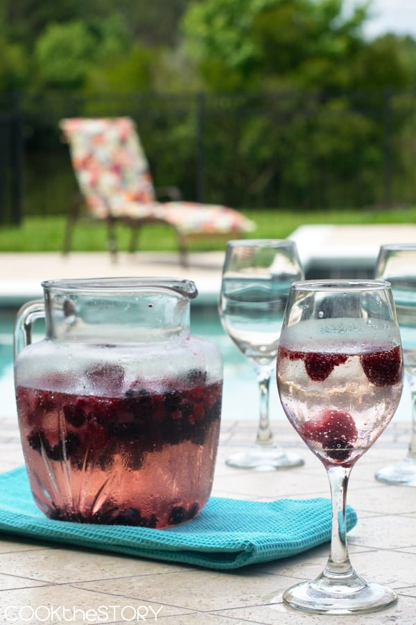 Berry Wine Cooler Recipe - Perfect for Summer parties!