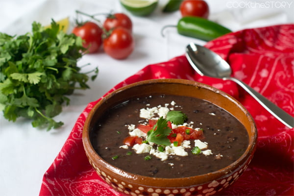 Homemade Black Bean Soup in 15 Minutes