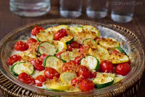 Summer Squash and Zucchini Gratin