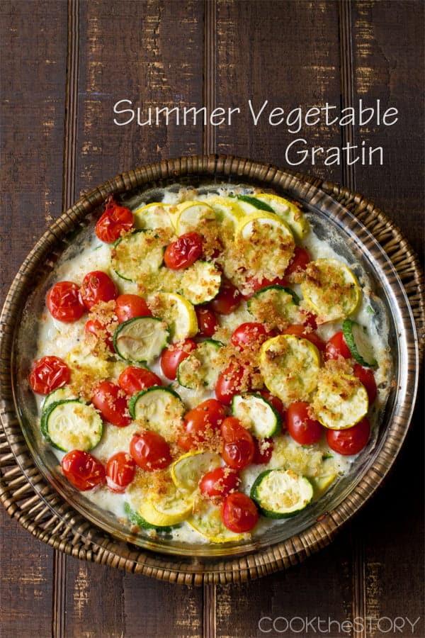 Summer Squash and Zucchini Gratin