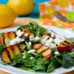 Salad with Grilled Peaches