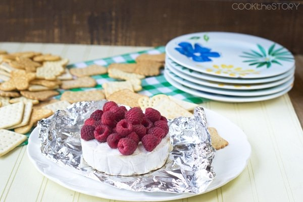 Grilled Raspberry Brie Cheese