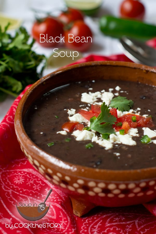 Homemade Black Bean Soup in 15