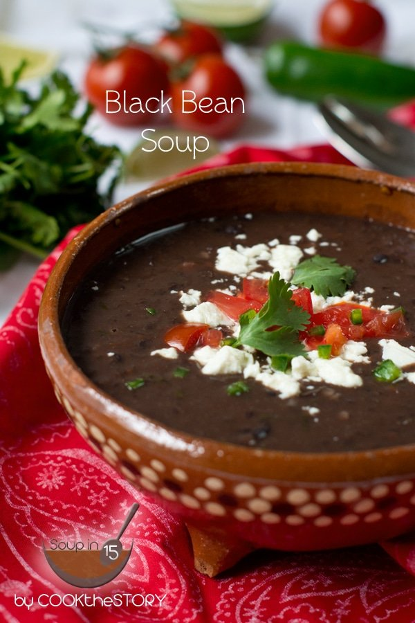 15 Minute Homemade Black Bean Soup