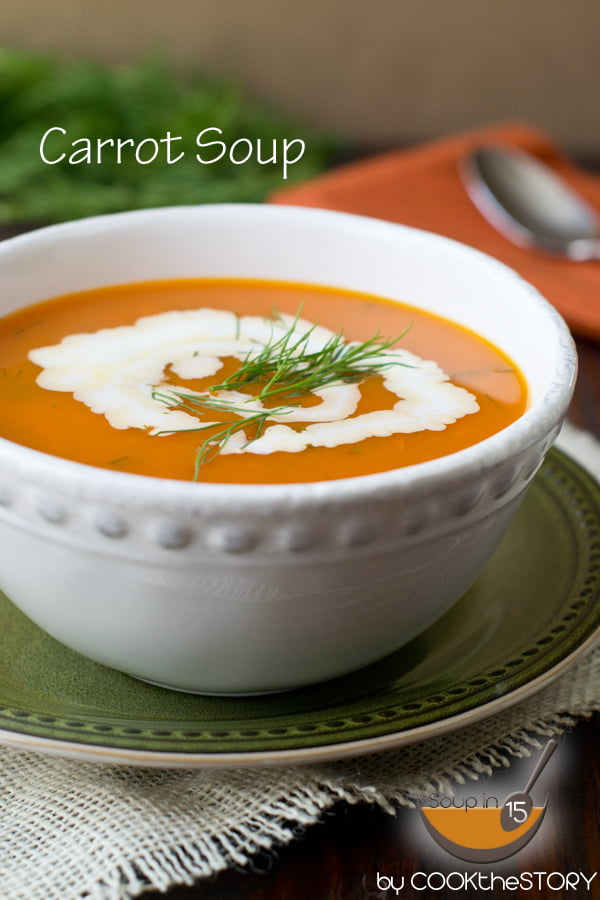 Carrot Soup with Dill in 15 Minutes