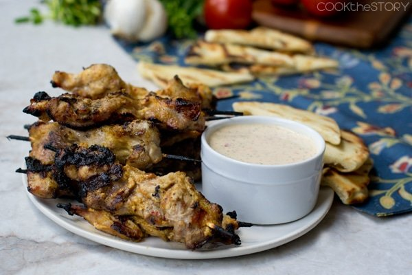 Indian Spiced Grilled Chicken with Yogurt Sauce