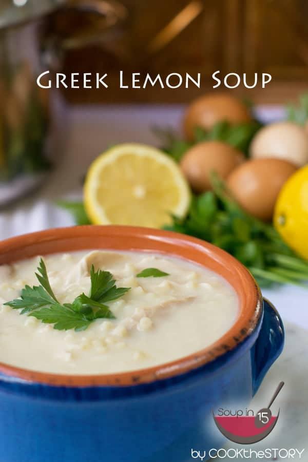 Quick Avgolemono Soup (Greek Lemon Soup)