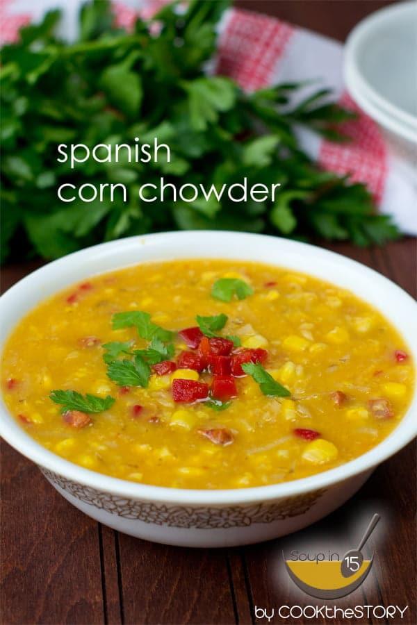 Spanish Corn Chowder in 15 Minutes