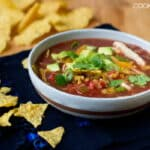 Quick Chicken Tortilla Soup in 15