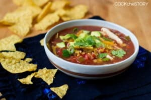 Quick Chicken Tortilla Soup in 15
