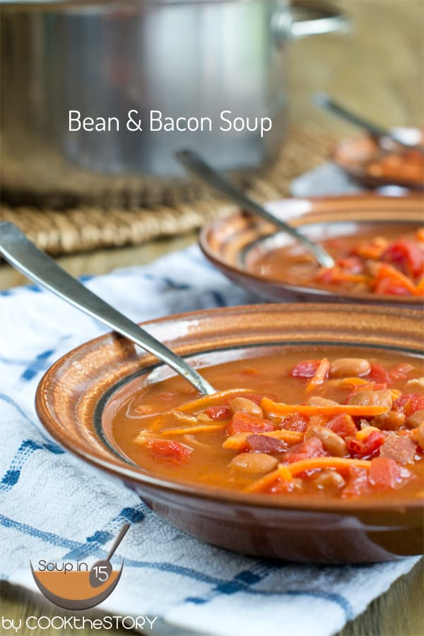 Bean and Bacon Soup Recipe is all about the protein. The beans, bacon ...