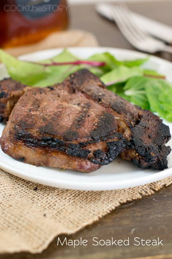 Maple-Soaked Chuck Eye Steaks