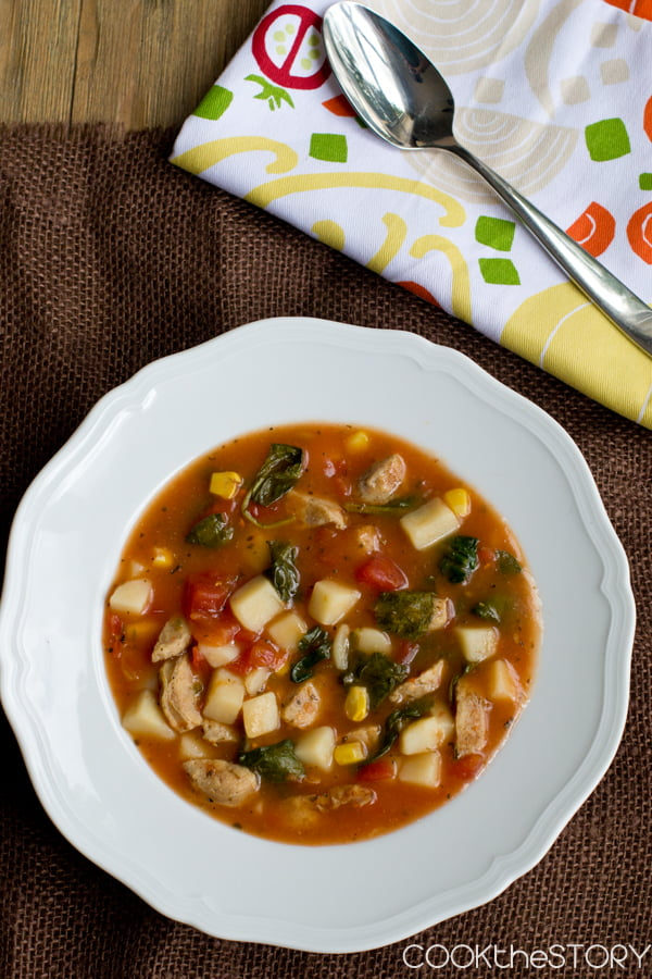 Hearty Tomato Potato Soup in 15