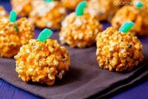 Popcorn Balls for Halloween