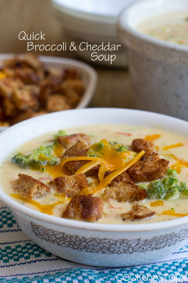 Broccoli Cheese Soup in 15 Minutes