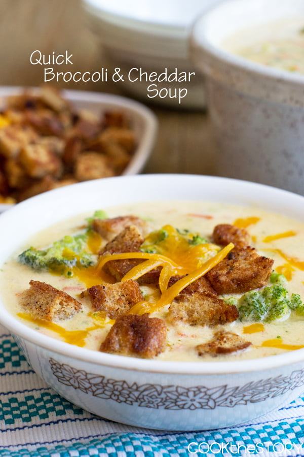 Broccoli Cheddar Soup in 15 Minutes