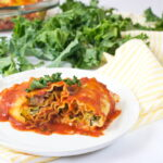 Lasagna Rolls with Chicken Cordon Bleu and Kale Filling