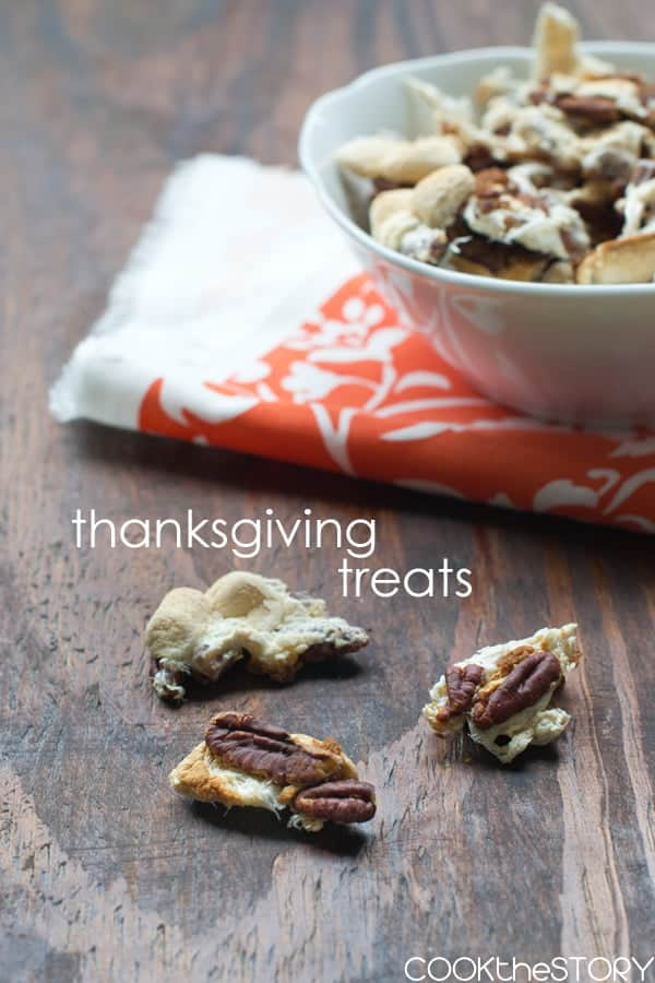 Sweet Potato Casserole topping is turned into Thanksgiving Treats! Get the recipe on COOKtheSTORY