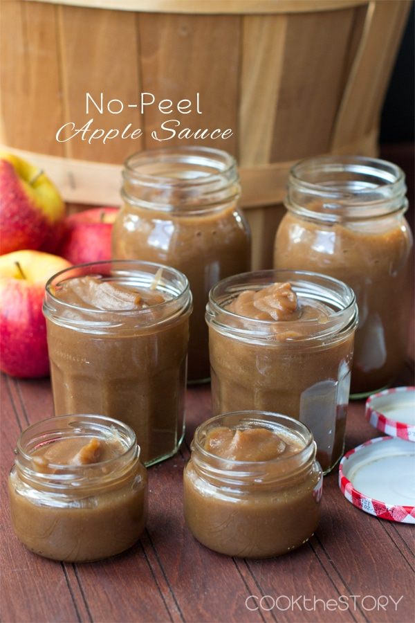 Creamy Apple Sauce, No Peeling required