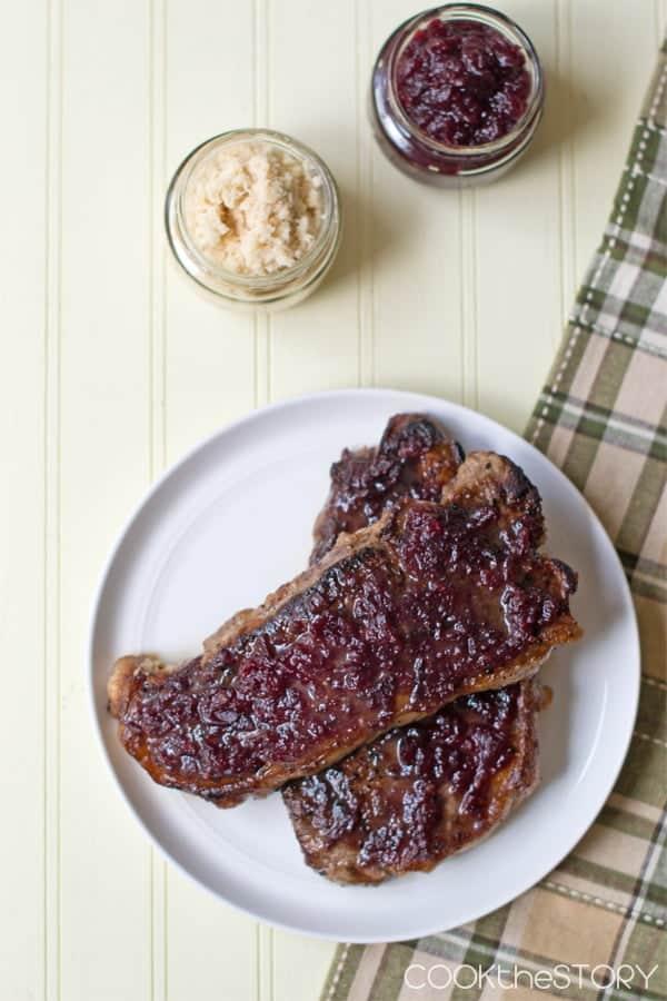 Cranberry Horseradish Pan-Fried Steak