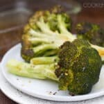 Whole Oven Roasted Broccoli with Garlic and Red Pepper Flakes