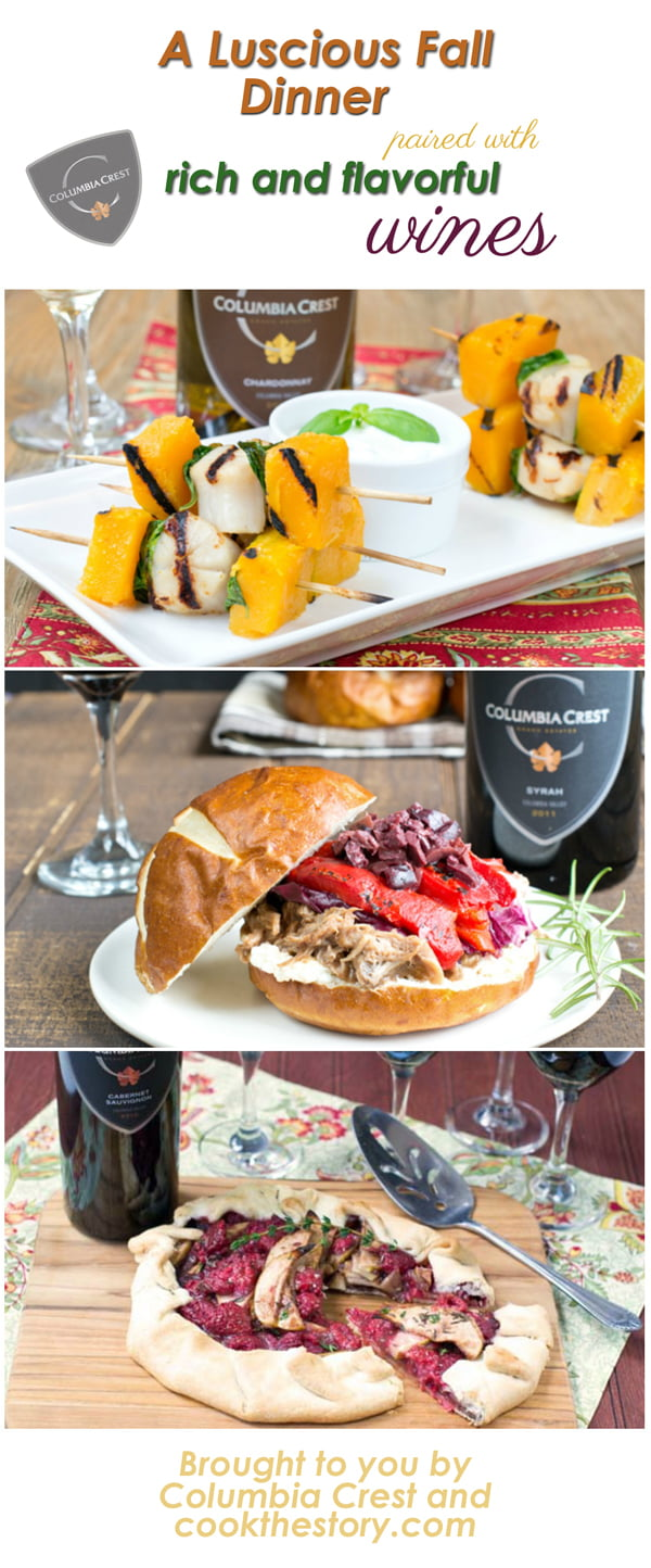 A Fall Dinner Party Menu with Wine Pairings