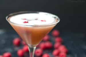 Sparkling French Martini Cocktail