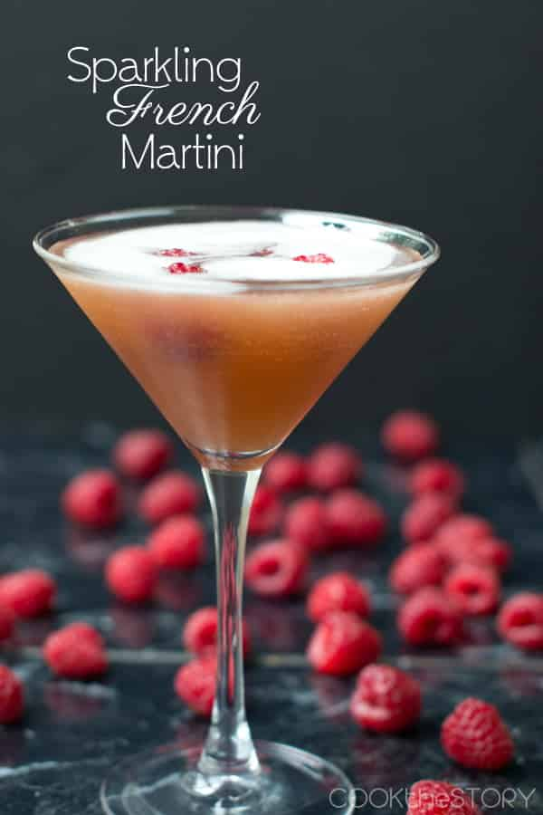 French martini champagne cocktail