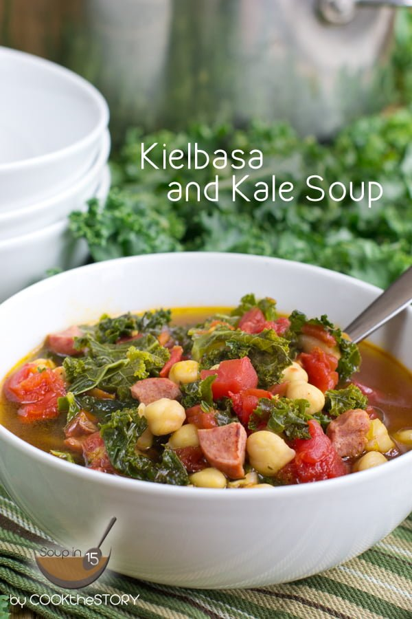Quick Kielbasa and Kale Soup