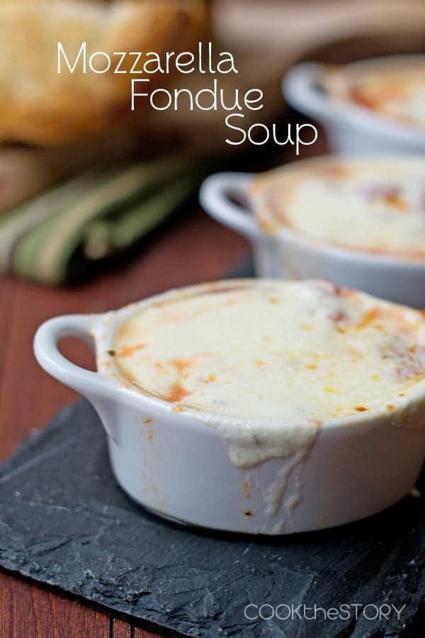 Mozzarella Fondue Soup