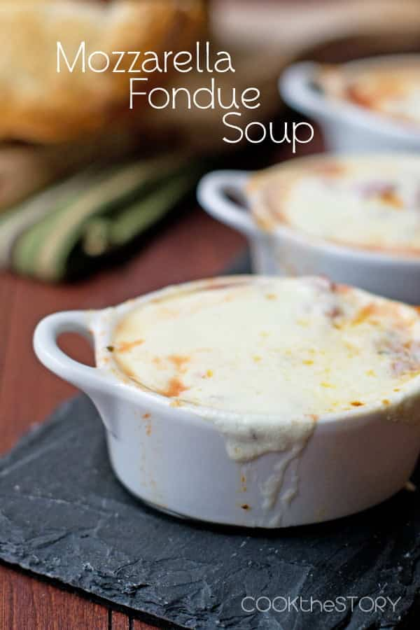 Mozzarella Fondue Soup - quick and easy homemade soup in just 15 minutes!