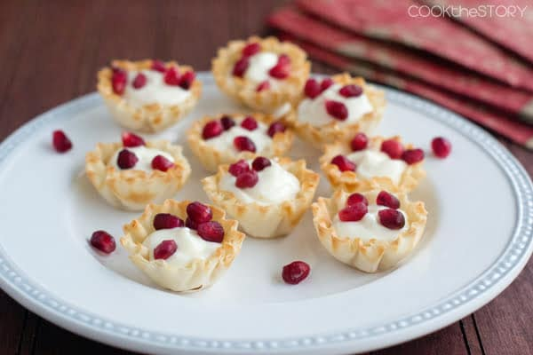 Little Pomegranate Cream Cheese Cups