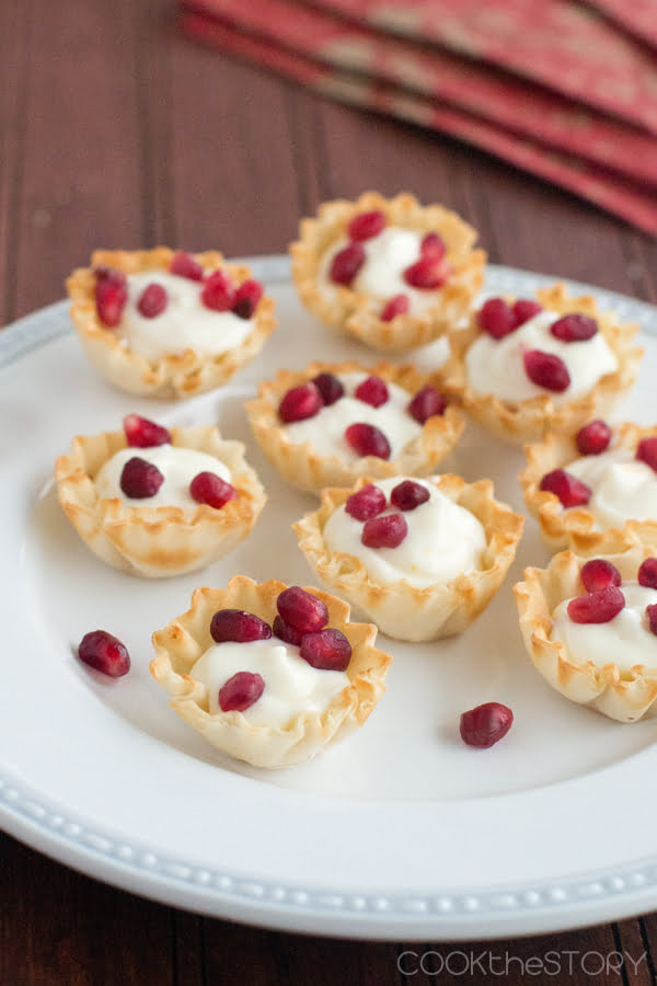 Quick and Easy Little Desserts: Pomegranate Cream Cheese Cups
