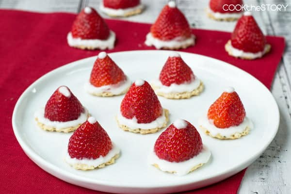 Little Strawberry Santa Hats are a quick, easy and healthy Christmas treat. And they're just plain cute!