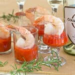 Butter-Poached Shrimp Cocktail with Roasted Red Pepper Cocktail Sauce