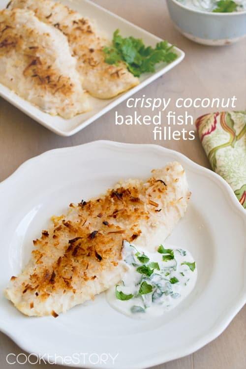 Crispy Coconut Baked Fish Fillets
