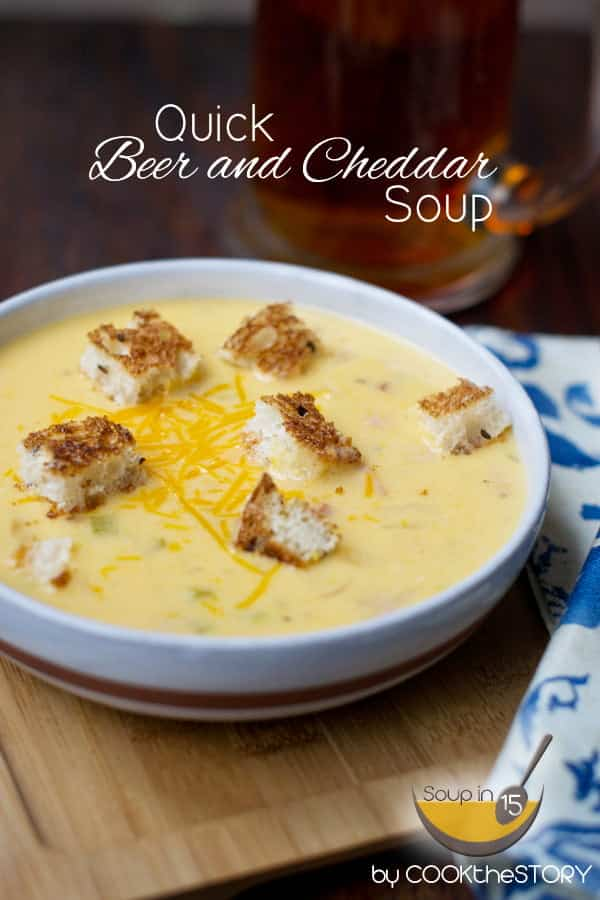 Beer Cheese Soup in 15 Minutes