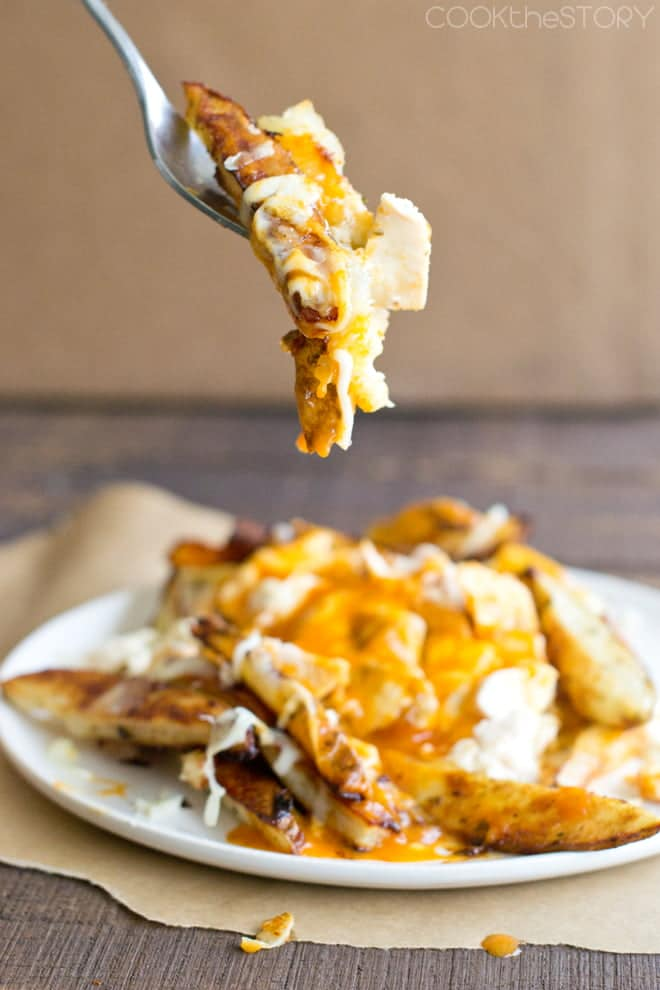 Buffalo Chicken Poutine with Ranch Fries
