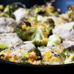 One-Pan Chicken and Broccoli with Cheese and Crunchy Bread Crumbs