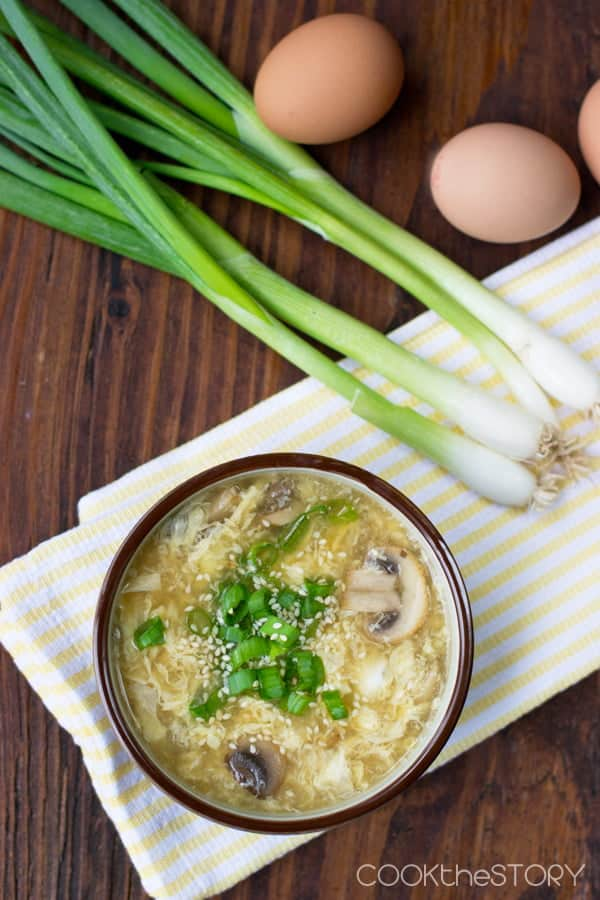 Egg Flower Soup (also known as Egg Drop Soup)