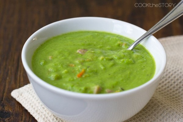 Quick Pea Soup with Ham
