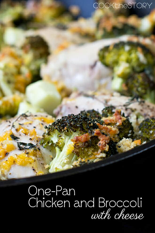 This one-pan chicken recipe has ever-healthy broccoli topped with crunchy cheddar bread crumbs. You get to indulge and feel good about it at the same time!