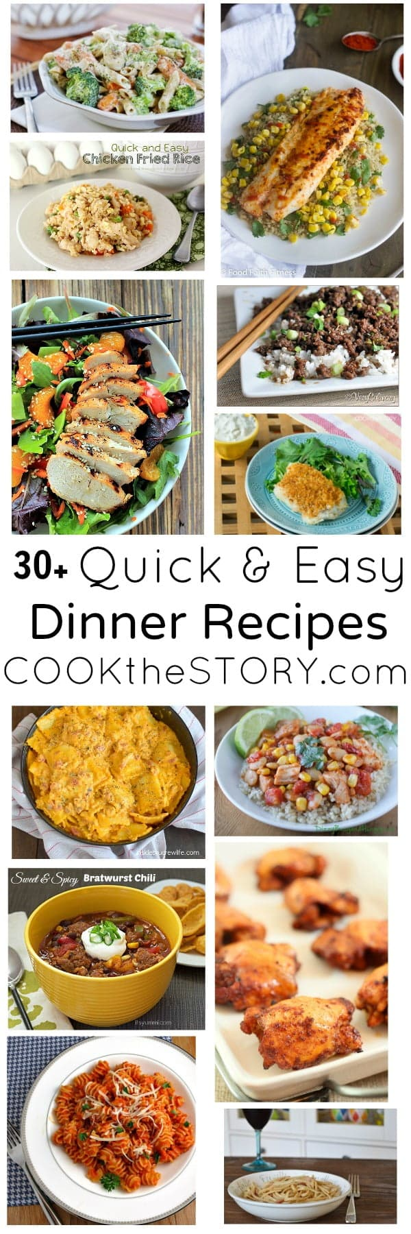 30+ Quick and Easy Weeknight Dinner Recipes - see the collection on COOKtheSTORY.com