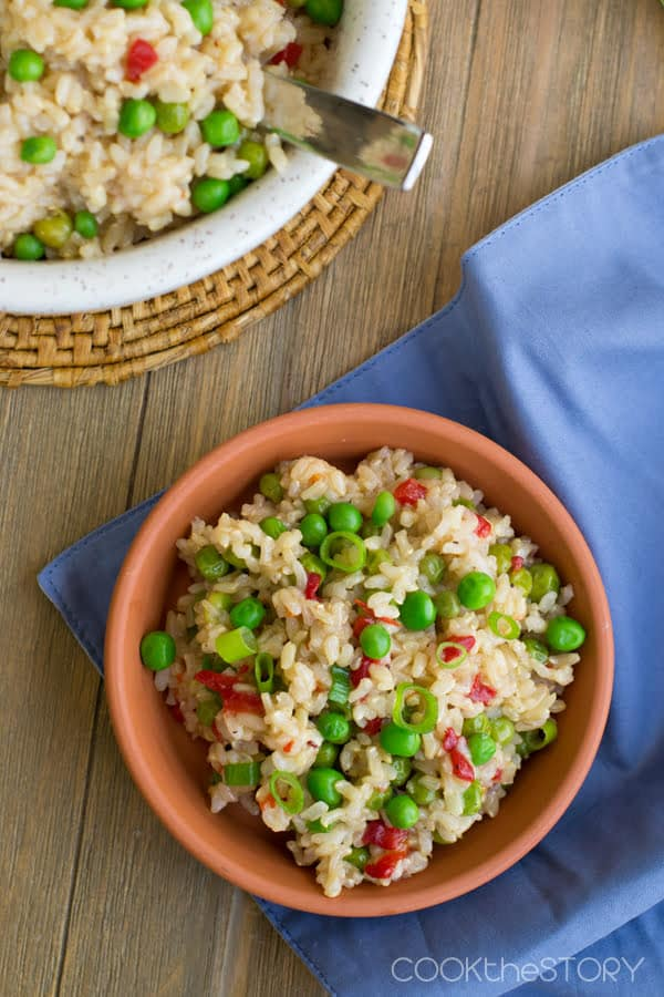 Spanish Rice with Pimentos and Peas