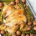 Spatchcocked Chicken Dinner