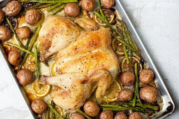 Spatchcocked Chicken With Potatoes Recipe — Dishmaps